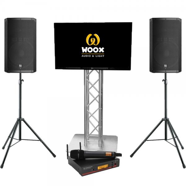 Presentatie set met TV scherm