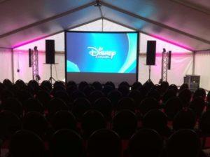 Disney channel pop-up bioscoop
