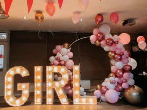 girl lichtletters babyshower