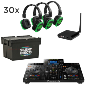Silent Disco met DJ set 30 personen